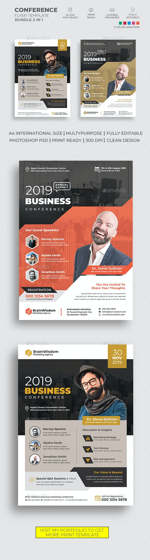 Conference Flyer Bundle 02 - Corporate Flyers