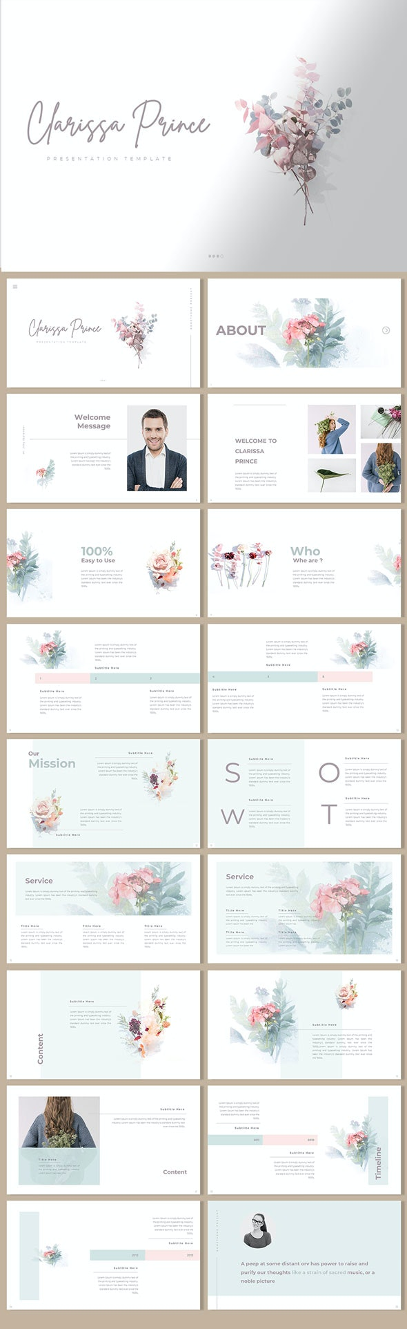 Clarissa Prince - Presentation Template - Creative PowerPoint Templates