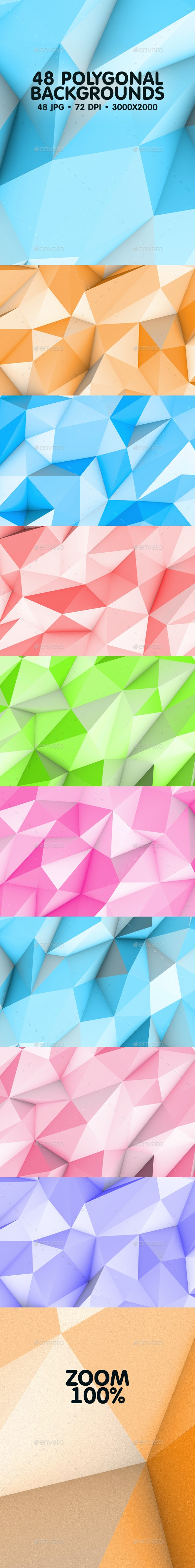 48 Polygonal Backgrounds - Backgrounds Graphics