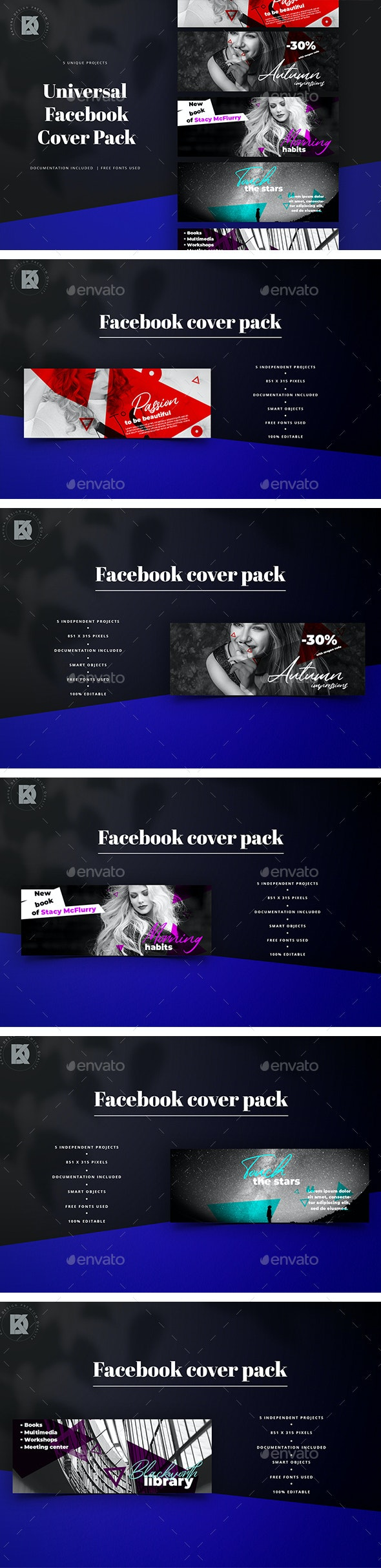 Facebook Cover Banners Pack - Facebook Timeline Covers Social Media