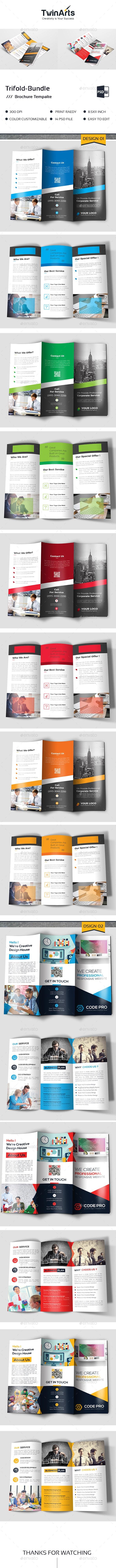 Corporate Trifold Bundle - Brochures Print Templates