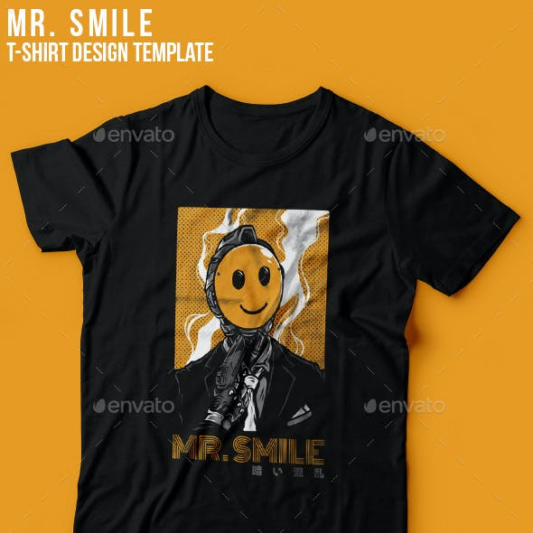 Mr. Smile T-Shirt Design