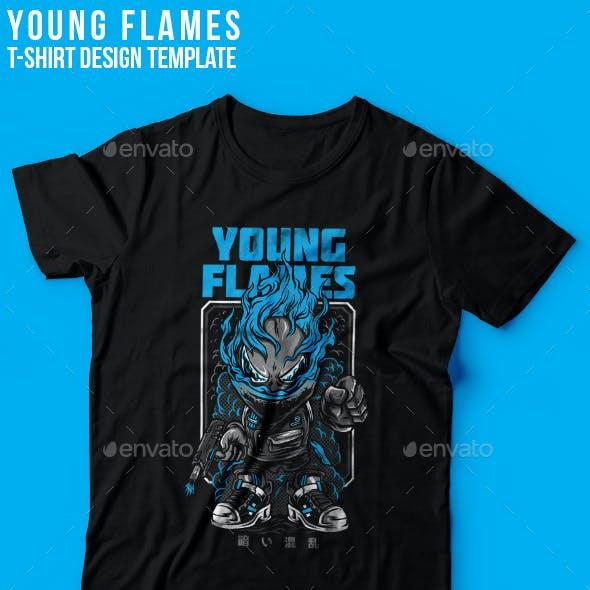 Young Flames T-Shirt Design
