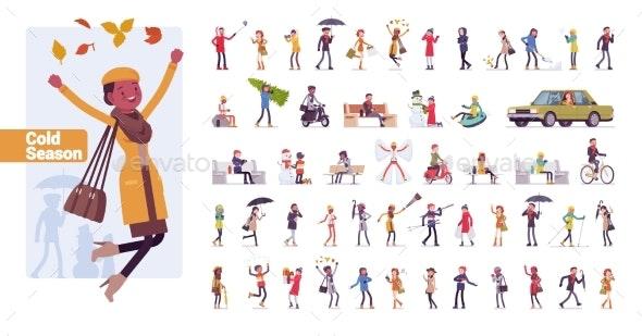 Cold Season Character Set - People Characters