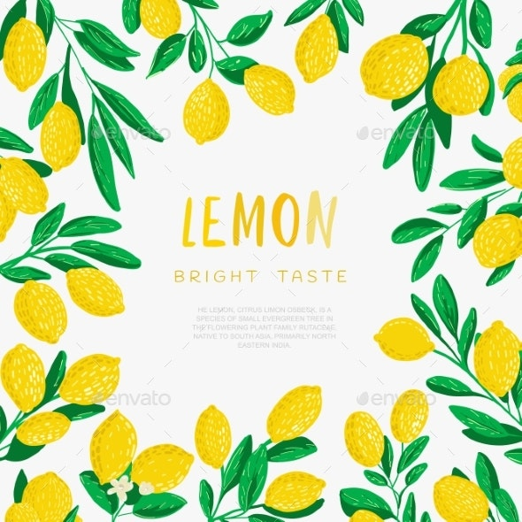 Abstract Illustration of Lemons - Food Objects