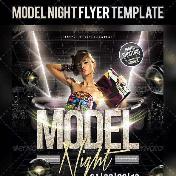 Model Night Flyer Template