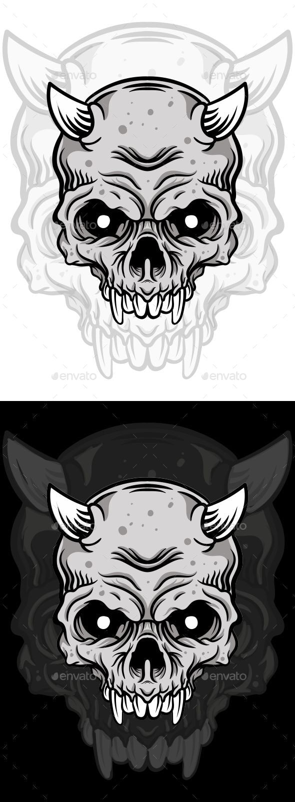 Skull Vector - Miscellaneous Characters