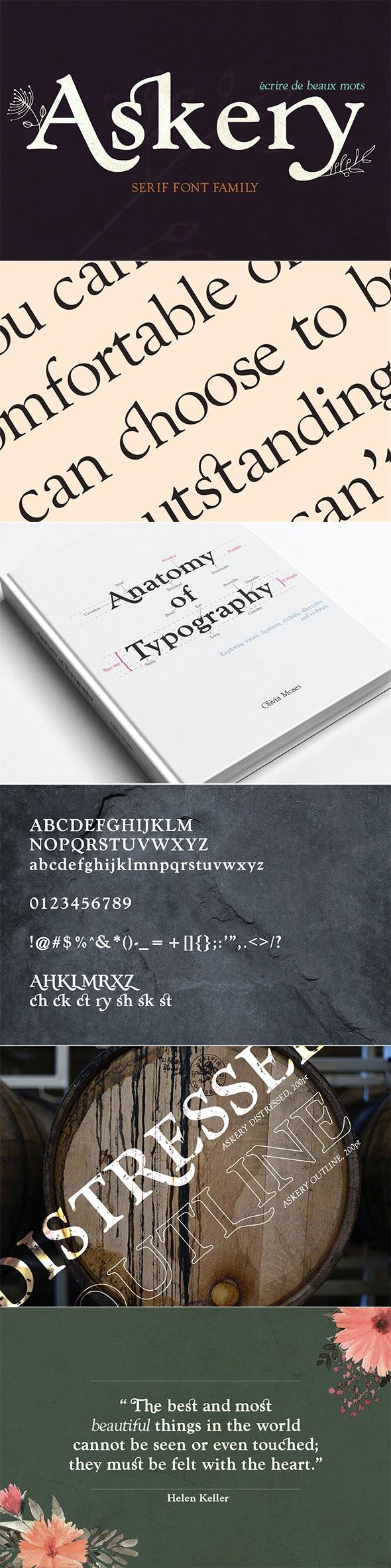 Askery Font Family - Serif Fonts