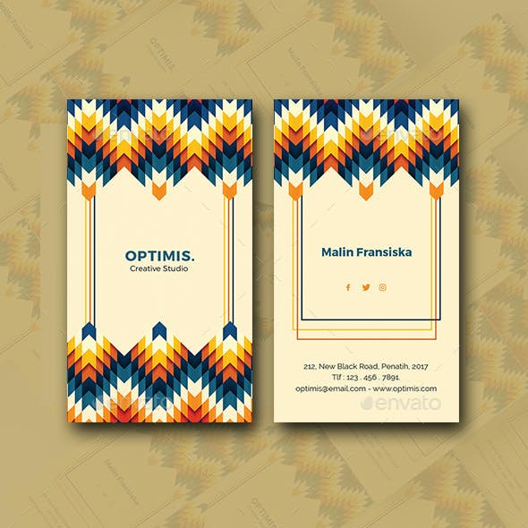 Vertical Colorful Business Card