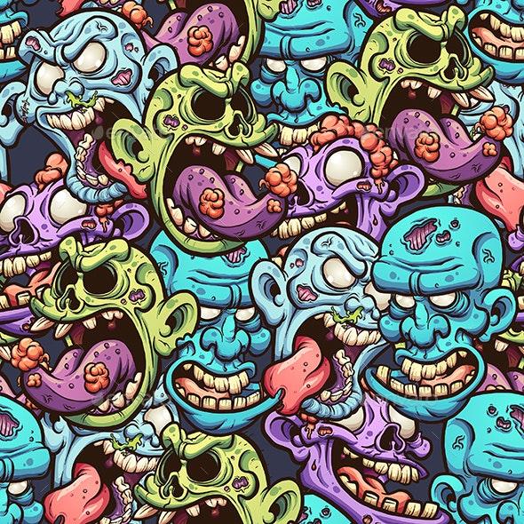 Zombie Heads - Halloween Seasons/Holidays