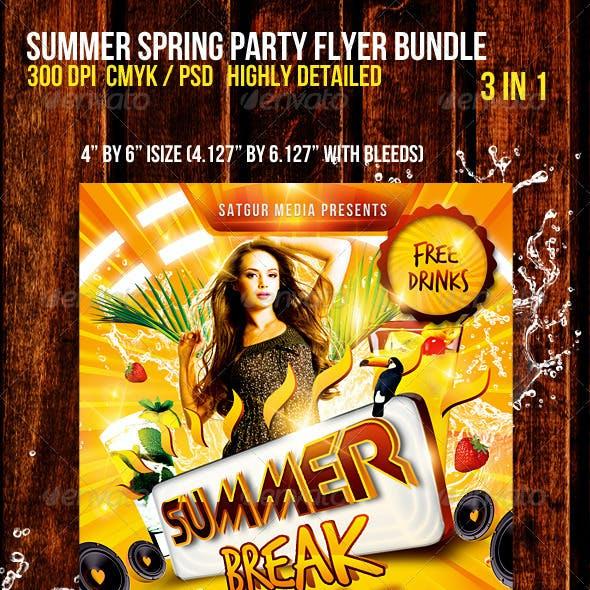 Summer Spring Party Flyer Bundle