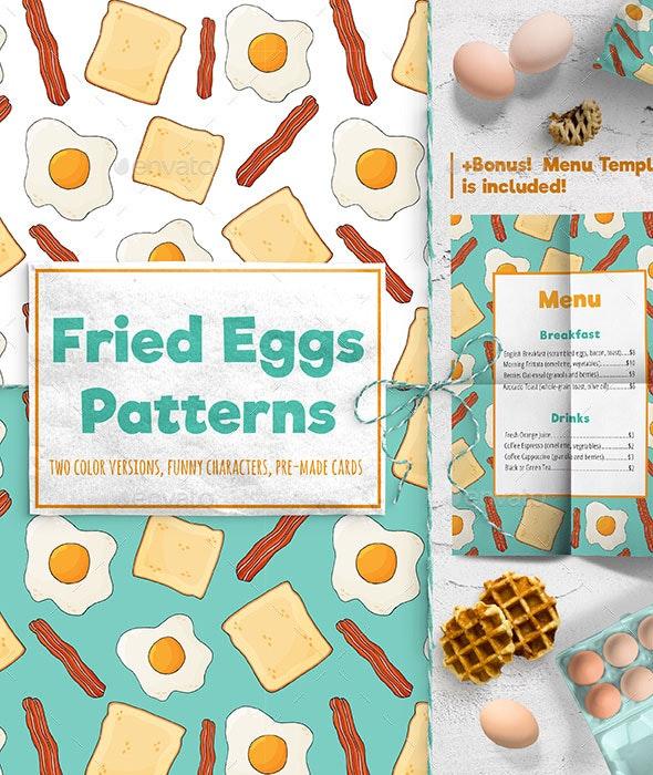 Fried Eggs Patterns - Patterns Decorative