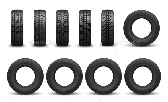 Types of Tire with Different Tread Patterns - Man-made Objects Objects