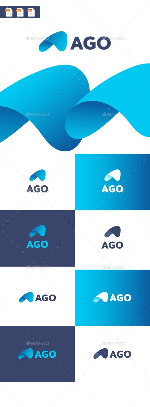Ago - A abstract letter logo template - Abstract Logo Templates