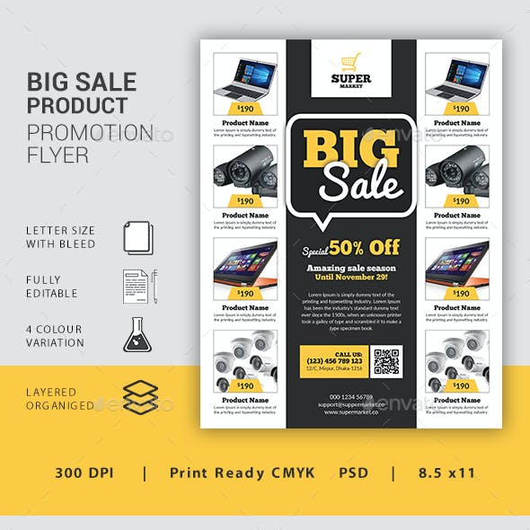 Big Sale Product Promotion Flyer
