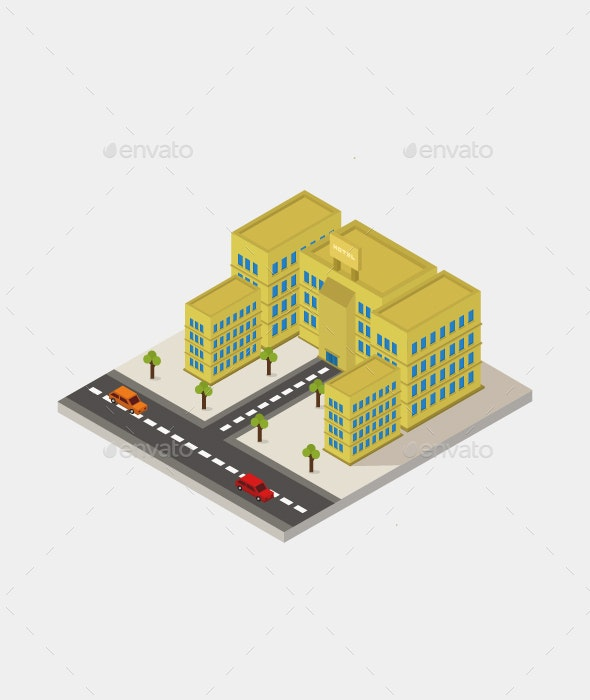 Isometric Hotel - Buildings Objects