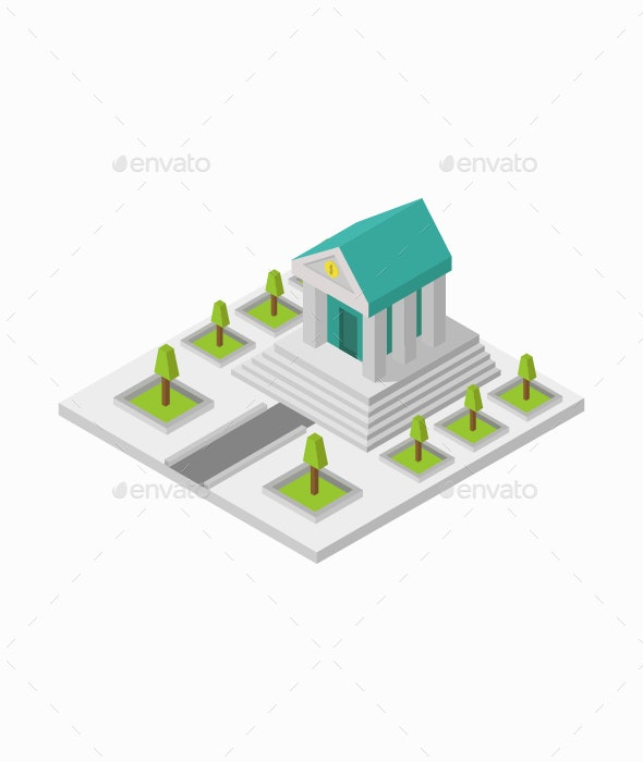 Isometric Bank - Buildings Objects