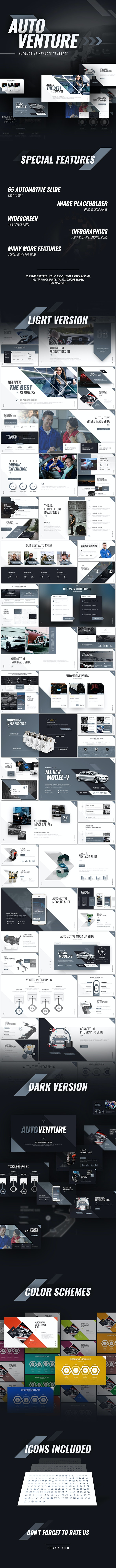 Autoventure Automotive Keynote Presentation Template - Keynote Templates Presentation Templates