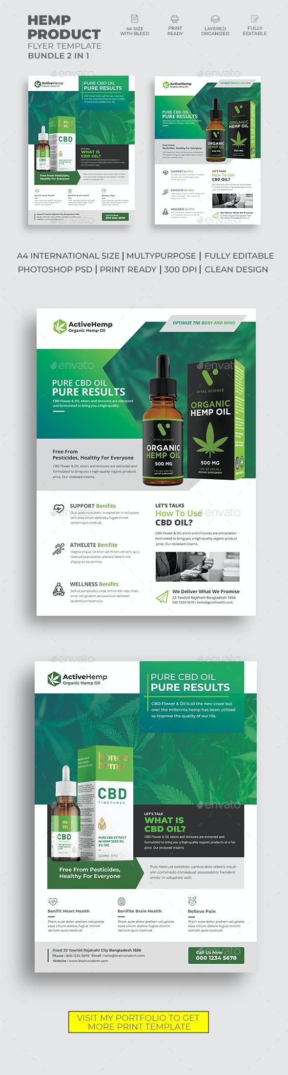 Hemp Product Flyer Bundle - Commerce Flyers