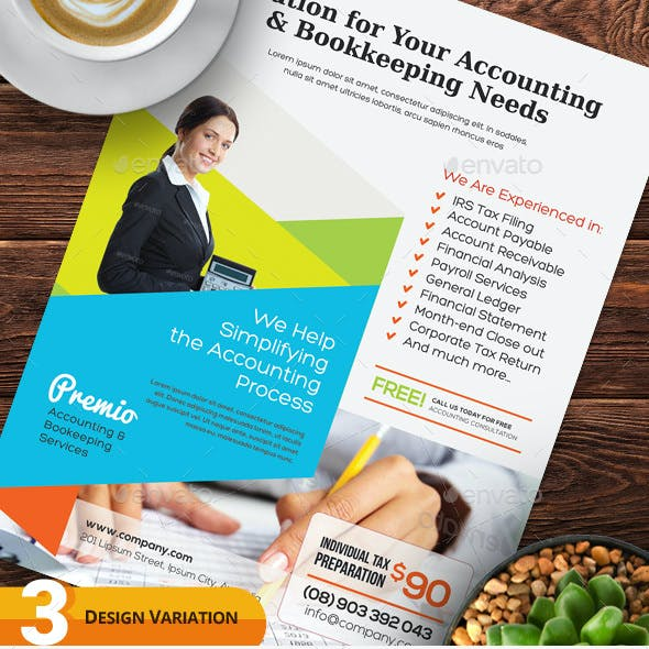 Accounting and Bookkeeping Services Flyers