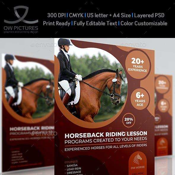 Horseback Riding Training Flyer Template