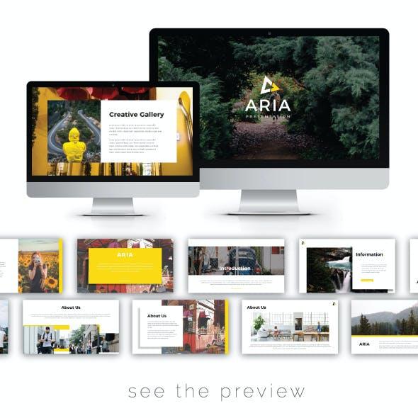 Aria Presentation Templates