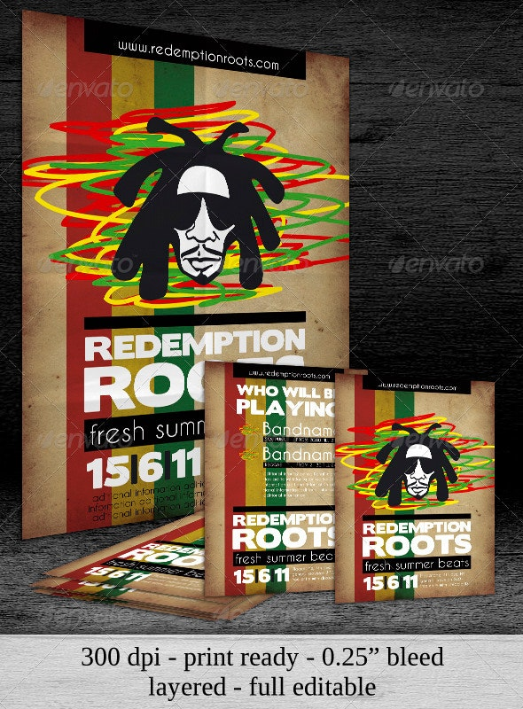 Poster & Flyer Redemption Roots Party - Clubs & Parties Events