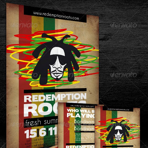 Poster & Flyer Redemption Roots Party