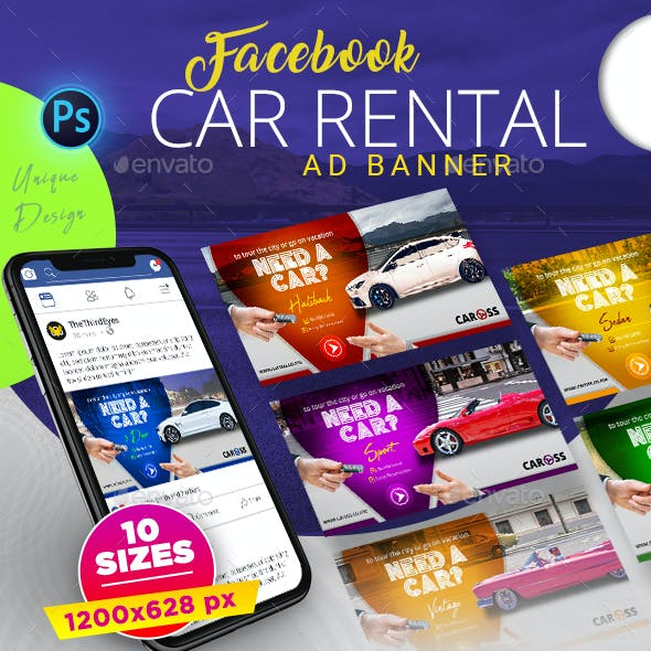 Car Rental Facebook AD Banner