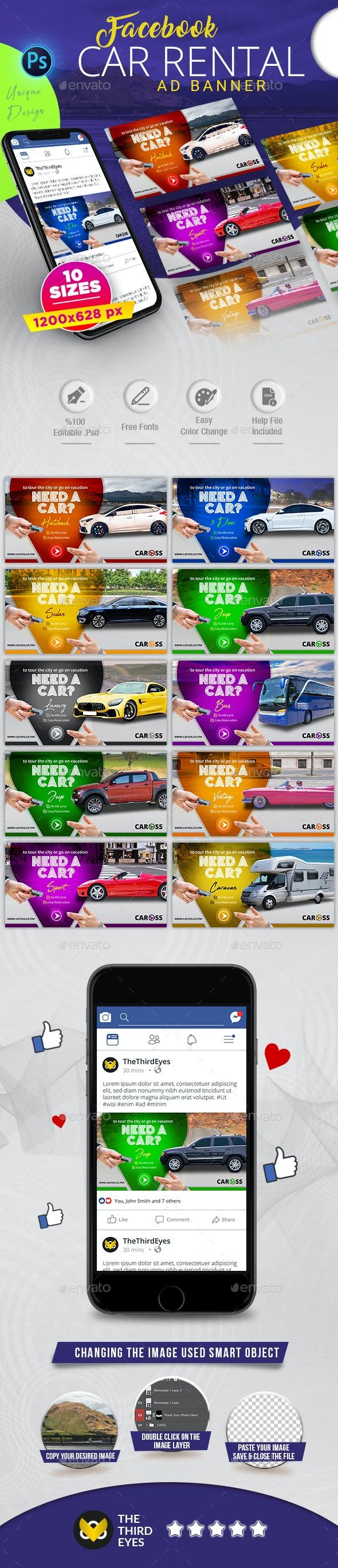 Car Rental Facebook AD Banner - Social Media Web Elements