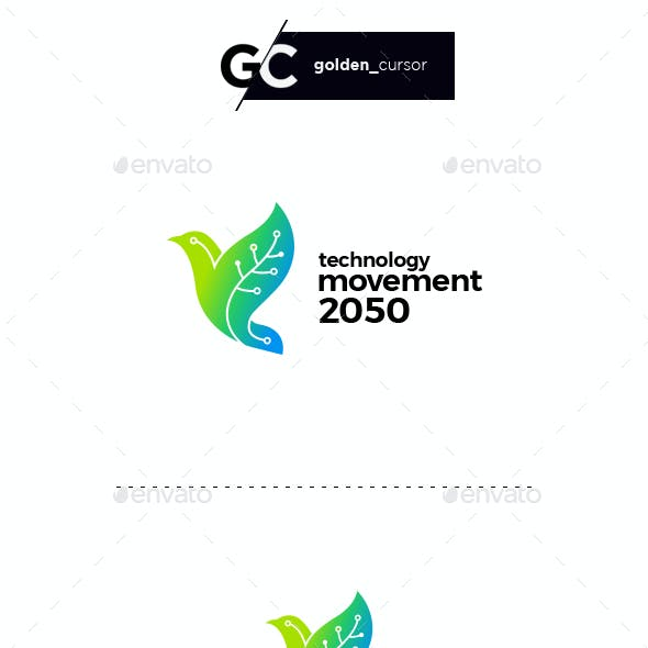 Technology movement logo template