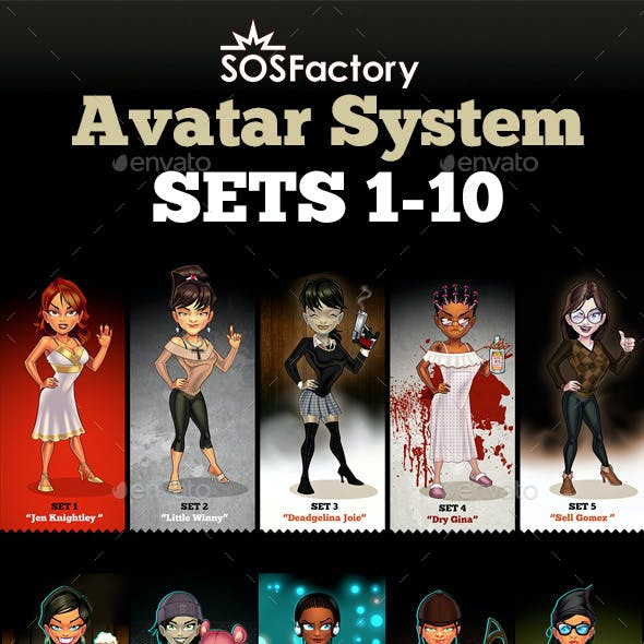 Avatar Creator Women Sets 1-10