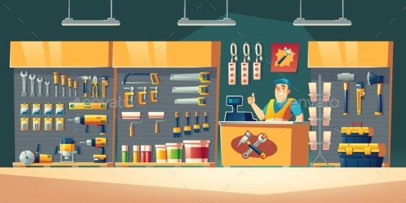 Tools Store Hardware Construction Shop Interior - Retail Commercial / Shopping