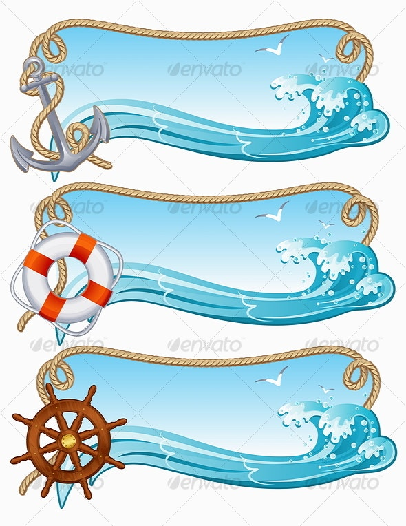 sailing banner - Backgrounds Decorative