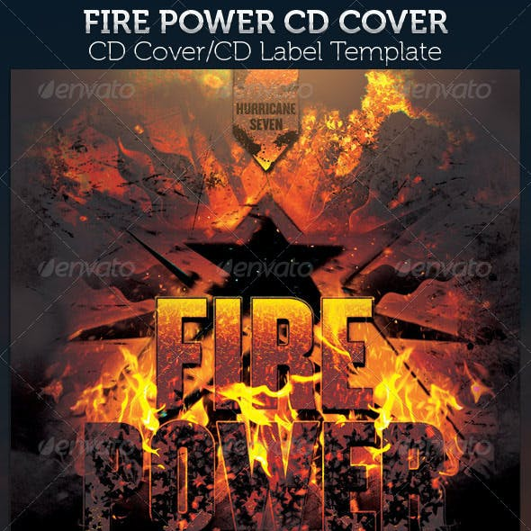 Fire Power CD Cover Template