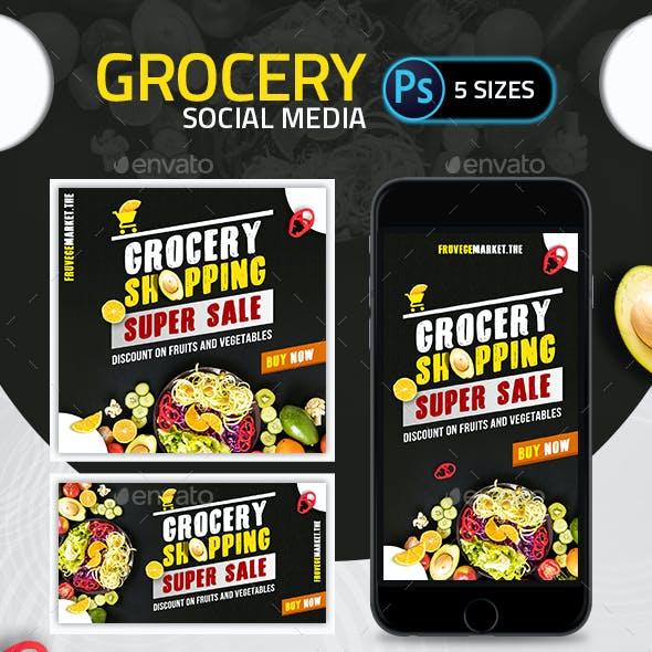 Grocery Social Media Pack