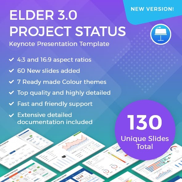 Elder 3.0 – A Project Status Report Keynote Template