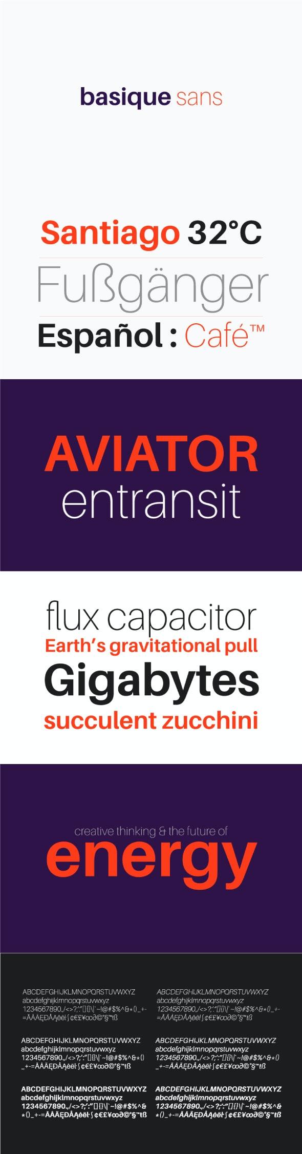 Basique Sans Font 3 Weights - Miscellaneous Sans-Serif
