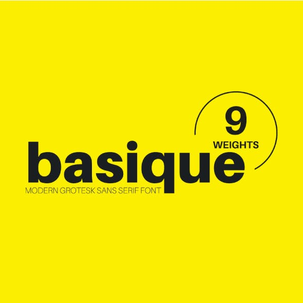 Basique Sans Font 9 Weights (With italics)