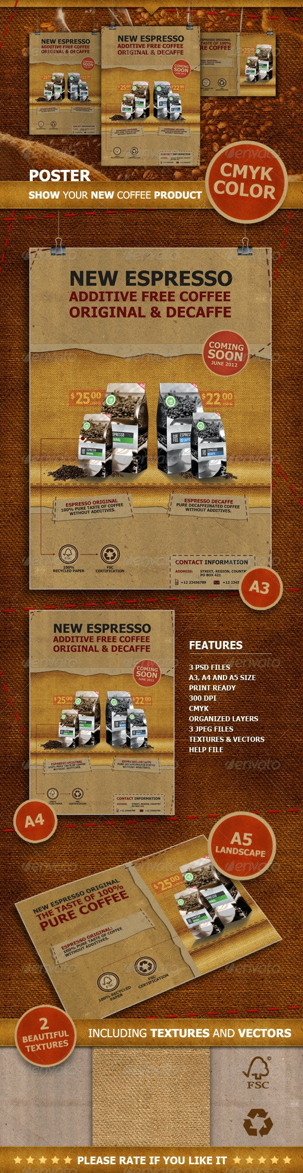 Coffee Poster & Flyer - Flyers Print Templates