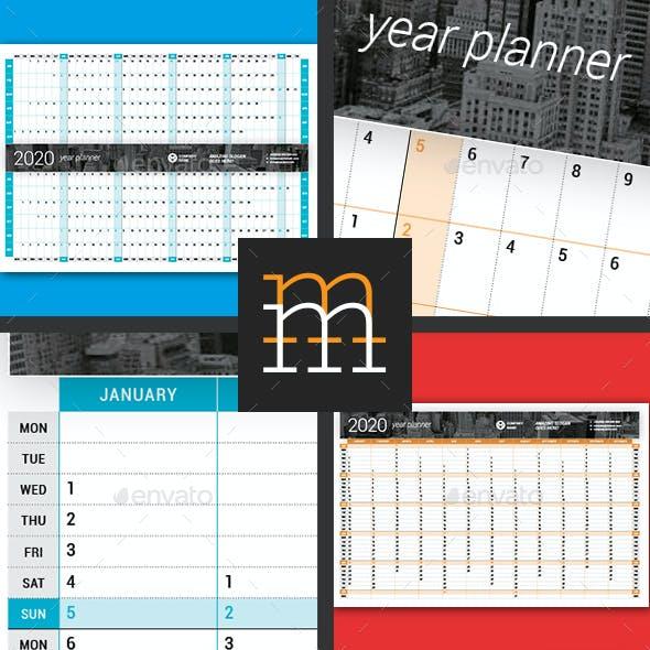 Year Planner 2020