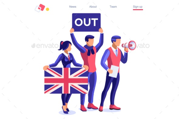 European Union Uk Brexit Concept - Miscellaneous Conceptual