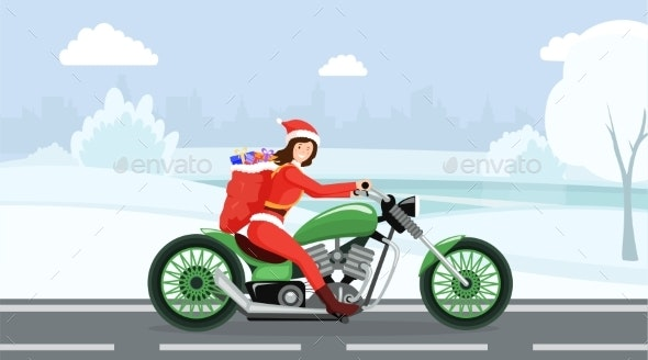 Xmas Gift Delivery Vector Illustration - Christmas Seasons/Holidays