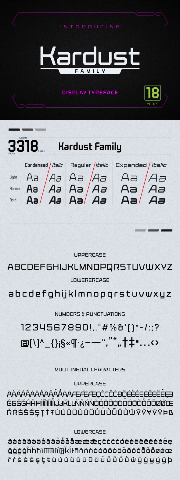 Kardust Family - Sans-Serif Fonts