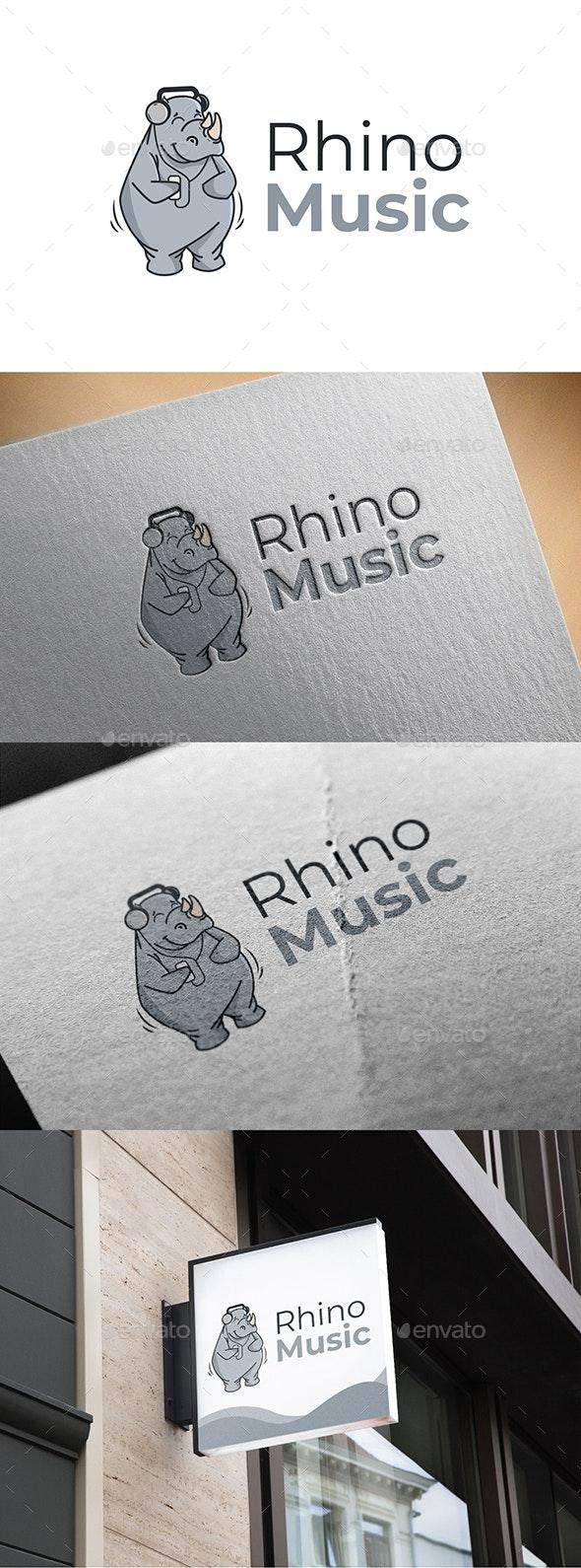 Rhino Music - Animals Logo Templates