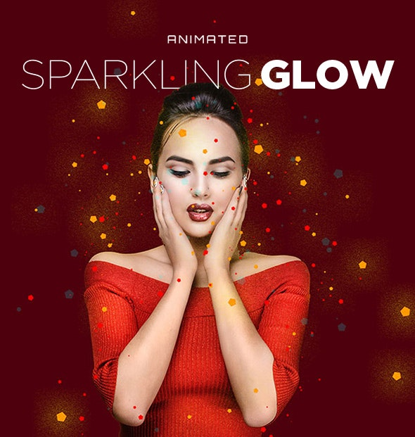 Sparkling Glow Animated Action - Actions Photoshop