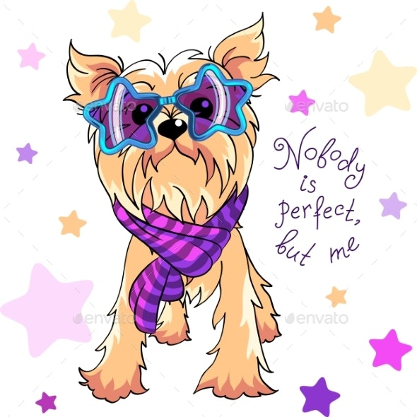 Vector Yorkshire Terrier Dog - Animals Characters