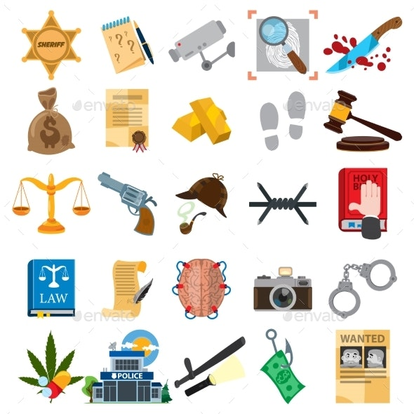 Law and Justice Icons - Miscellaneous Vectors