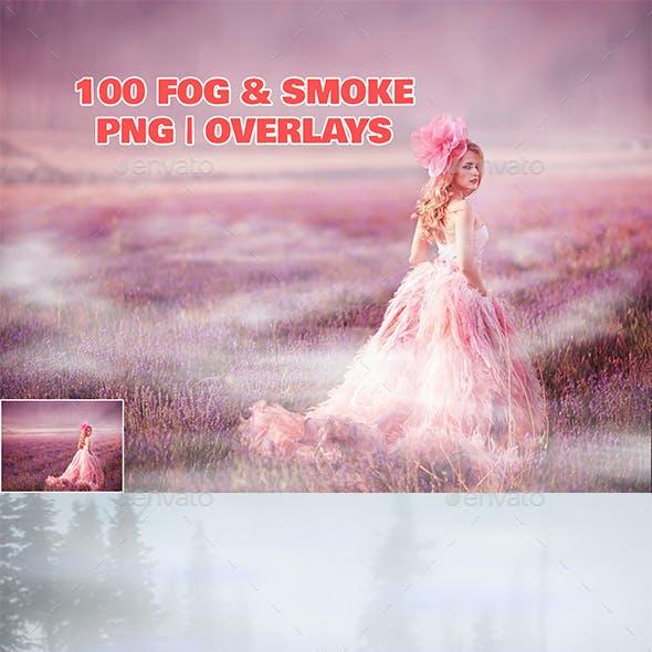 100 Fog & Smoke PNG   Overlays