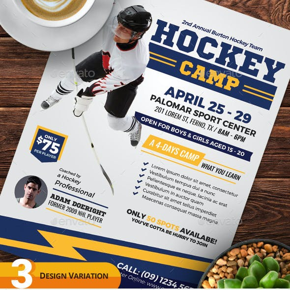 Hockey Camp Flyer Templates